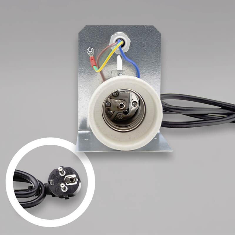 b gel mit fassung e40 1 5m kabel netzstecker f r energiesparlampen grow. Black Bedroom Furniture Sets. Home Design Ideas